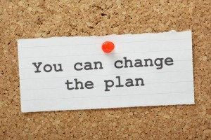 You Can Change the plan reminder on a notice board